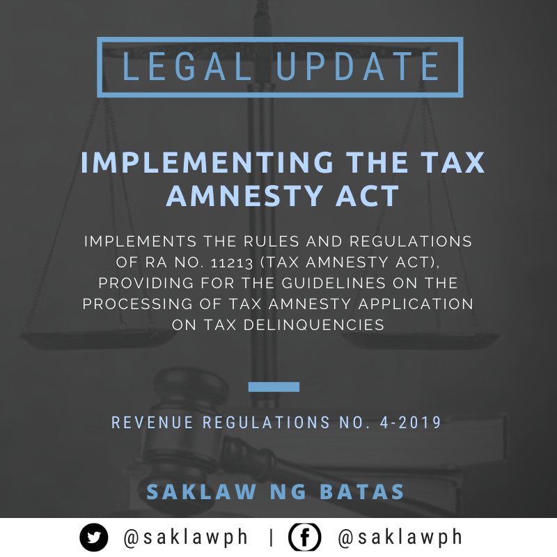 Implementing the Tax Amnesty Act