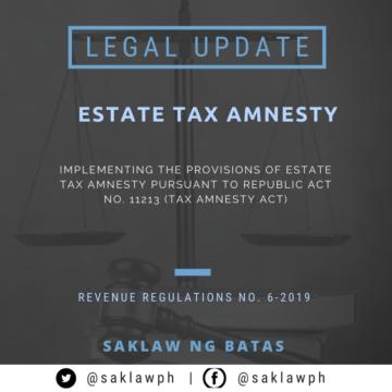 Estate Tax Amnesty